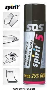 SPIRIT 5 Strong - sublimační lepidlo - sprej 500 ml